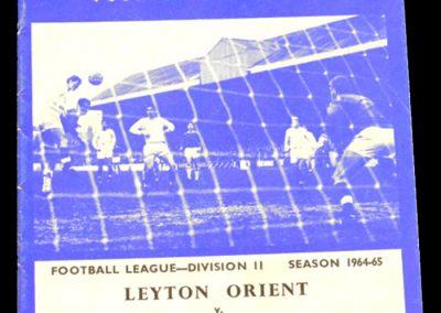 Leyton Orient v Cardiff City 14.11.1964