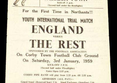 Corby v Wisebech 01.01.1959