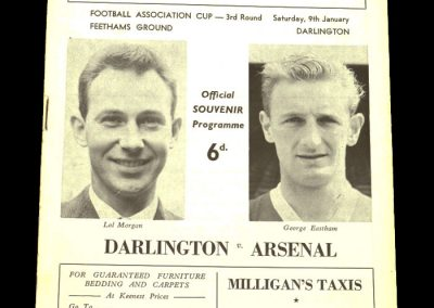Darlington v Arsenal 09.01.1965 | Association Cup 3rd Round