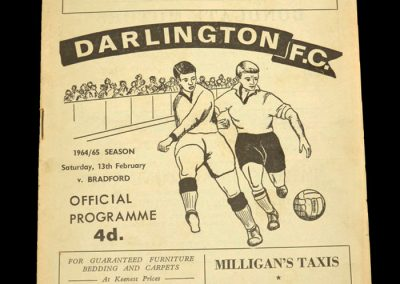 Darlington v Bradford 13.02.1965