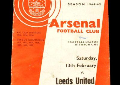 Arsenal v Leeds 13.02.1965