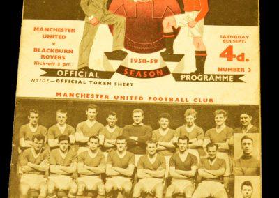 Blackburn Rovers v Manchester United 06.09.1958