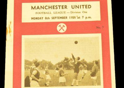 West Ham United v Manchester United 08.09.1958