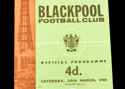 Blackpool v West Bromwich Albion 20.03.1965