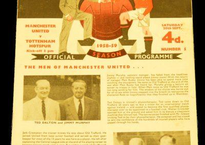 Tottenham Hotspur v Manchester United 20.09.1958