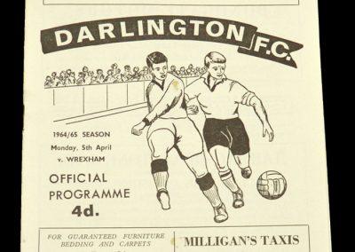Darlington v Wrexham 05.04.1965