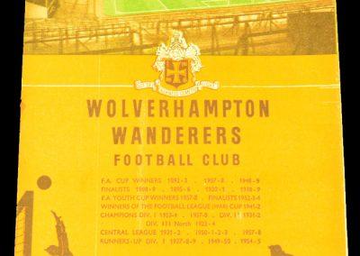Wolverhampton Wanderers v Manchester United 04.10.1958