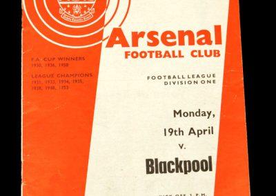 Arsenal v Blackpool 19.04.1965