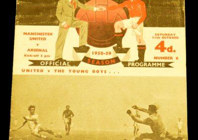 Manchester United v Arsenal 11.10.1958
