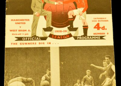 Manchester United v West Bromwich Albion 25.10.1958