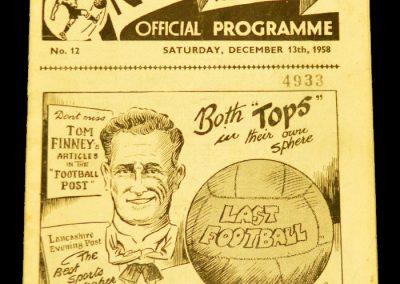 Preston North End v Manchester United 13.12.1958