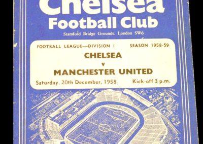 Chelsea v Manchester United 20.12.1958