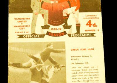 Manchester United v Manchester City 14.02.1959