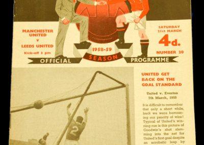 Leeds United v Manchester United 21.03.1959