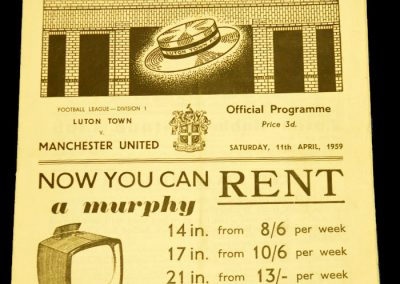 Luton Town v Manchester United 11.04.1959