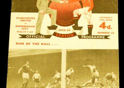 Birmingham City v Manchester United 18.04.1959