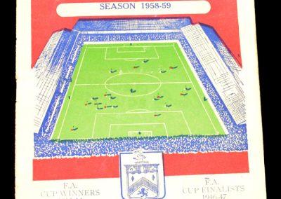 Burnley FC v Manchester City 23.08.1958