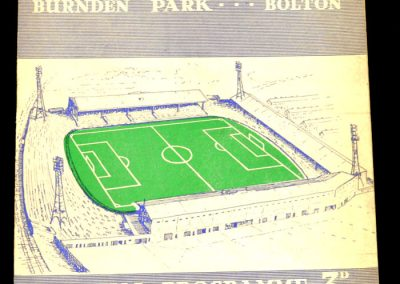 Bolton Wanderers v Manchester City 03.09.1958