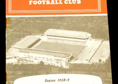 Arsenal v Manchester City 20.09.1958