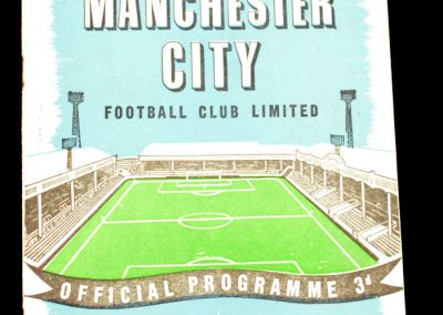 Manchester City v Portsmouth 18.10.1958