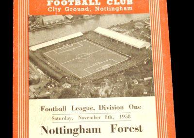 Nottingham Forest v Manchester City 08.11.1958
