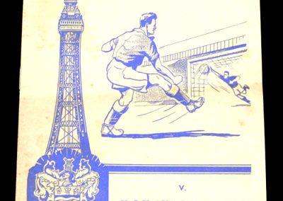 Blackpool FC v Manchester City 22.11.1958