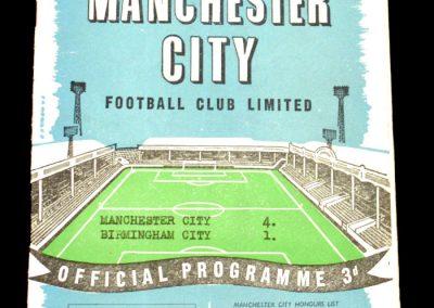 Birmingham City v Manchester City 27.12.1958