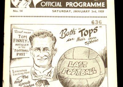Preston North End v Manchester City 03.01.1959