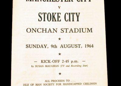 Manchester City v Stoke City 09.08.1964