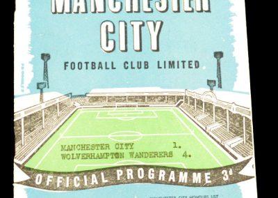 Wolverhampton Wanderers v Manchester City 28.02.1959