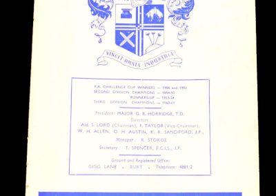 Bury FC v Manchester City 28.12.1964