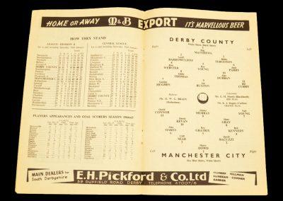 Derby County v Manchester City 30.01.1965