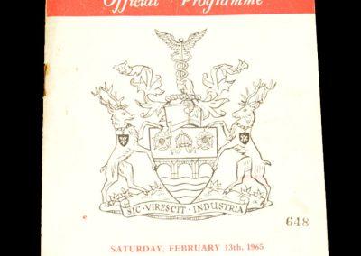 Manchester City v Rotherham United 13.02.1965