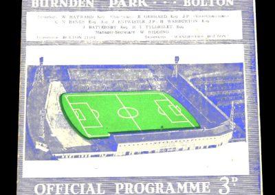 Bolton Wanderers v Manchester City 10.04.1965