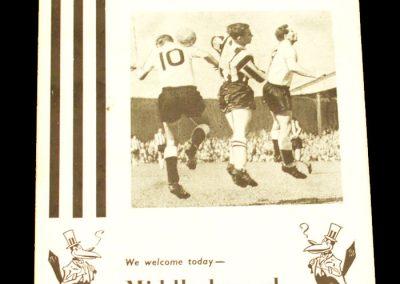 Newcastle United v Middlesbrough 04.09.1963