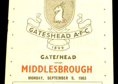 Gateshead v Middlesbrough 09.09.1963