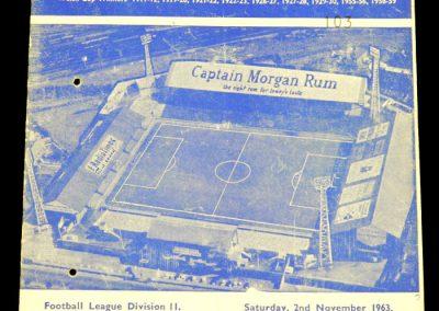 Cardiff City v Middlesbrough 02.11.1963