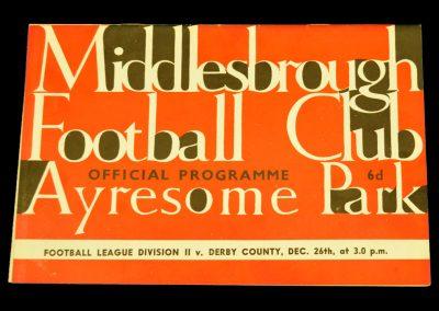 Derby County v Middlesbrough 26.12.1963