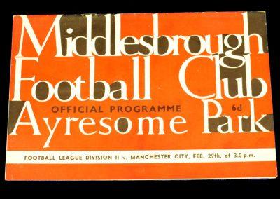 Middlesbrough v Manchester City 29.02.1964