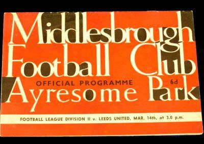 Middlesbrough v Leeds United 14.03.1964