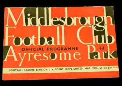 Middlesbrough v Scunthorpe United 28.03.1964