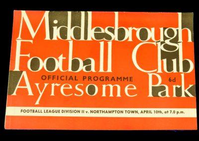 Northampton Town v Middlesbrough 10.04.1964