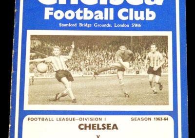 Chelsea v Blackburn Rovers 11.09.1963