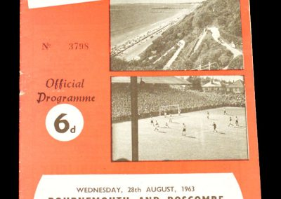 Bournemouth and Boscombe v Oldham Athletic 28.08.1963