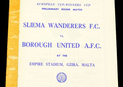 Sliema Wanderers v Borough United 15.09.1963