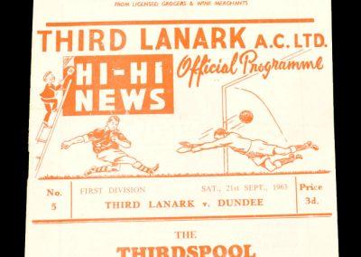 Third Lanark v Dundee 21.09.1963