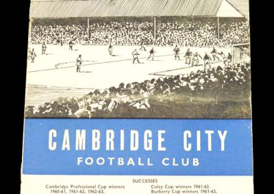 Cambridge City v Kings Lynn 10.10.1963