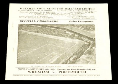 Wrexham v Portsmouth 04.11.1963