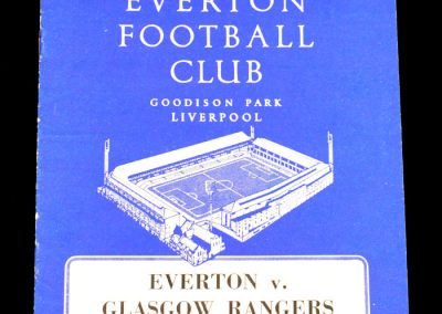 Everton v Glasgow Rangers 02.12.1963