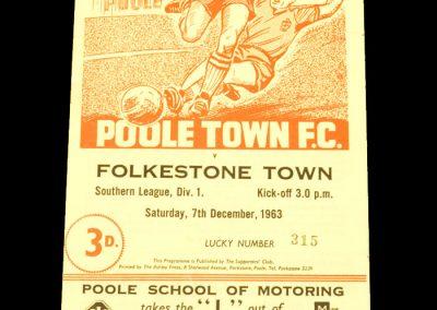 Poole v Folkstone 07.12.1963